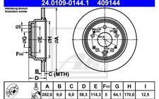 ATE Juego de 2 discos freno Trasero 282mm para HONDA CR-V 24.0109-0144.1