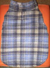 Outdoor Dog Warm Blue Plaid Polyester DOG Coat/Vest