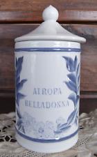 2t Petit pot à pharmacie Atropa Belladonna en Longchamp