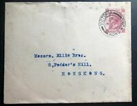 1912 Victoria Hong Kong Postal Stationary Cover to Pedder's Hill