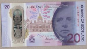 BANK OF SCOTLAND NEW £20 BJ 991976 ( 09/09/1976 ) YOUR BIRTHDATE FREEPOST UK UNC
