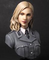 █ 1/10 Resin German Beauty Officer WW2 Figure Bust Unpainted MX068
