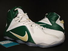 174bbd55ad3 NIKE LEBRON XII 12 SVSM ST VINCENT MARY PE PROMO SAMPLE MVP WHITE GREEN  GOLD NEW