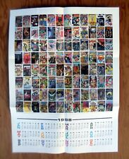 DC COMICS Promotional Poster 1988 Calendar Promo 96 Comic Covers