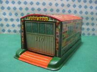 Rare Tin Toy / Tin Lithographed - Garage/Box/Garage Fire Dept - Alps