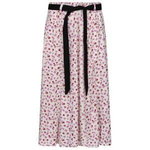 Womens Print Skirt, Soft Viscose Fabric, Full Elasticated Waist Tie Belt 31Inch