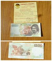 LIRE 100000 CARAVAGGIO 1998 II TIPO RARA SERIE SOSTITUTIVA XE qFDS SUBALPINA