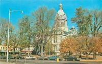 Rockville Indiana~Parke County Court House~Stores on Square~1960s Cars