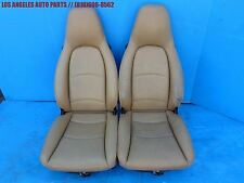 PORSCHE 911 993 968 964 944 951  FRONT PERFORATED LEATHER SEATS OEM PAIR TAN