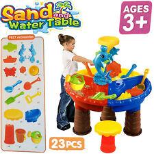 Kinder Sandtisch Runden Delphin Tischhocker Sand Garten Spielzeug Toys Set 23Pcs