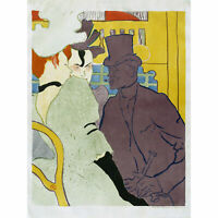 Toulouse-Lautrec English Moulin Rouge Advert Extra Large Art Poster