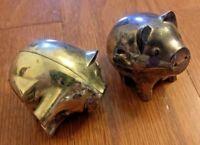 VINTAGE SILVER GODINGER ART CO. SALT & PEPPER SHAKERS – SILVER PIG SALT & PEPPER