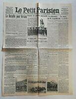 N958 La Une Du Journal Le Petit Parisien 25 Février 1916 bataille de Verdun
