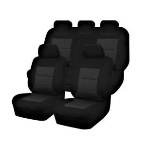 Premium Car Seat Covers For Ford Ranger Px Series 2011-2015 Dual Cab   Black