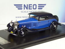(KI-10-20) Neo Scale Models Rolls Royce Phantom II Coupé 1933 Azul 1:43 IN Ovp