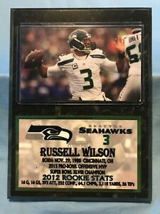 RUSSELL WILSON  SEATTLE SEAHAWKS  SUBLIMATION PHOTO PLAQUE