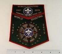 2019 24th World Scout Jamboree: World Scouting Set - Red Border 2-Parter