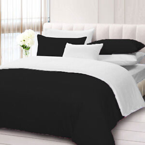 Egyptian Cotton 1000 TC 2 Piece Solid Reversible Pillowcase All Sizes All Colors