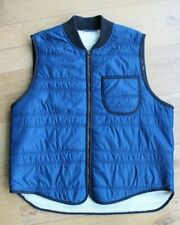 Ralph Lauren Denim and Supply Mens Shearling Blue Gilet Size XL