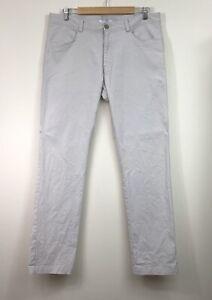 Calvin Klein Trousers Pants 34W 32L Mens Beige Slim Fit Business Office Formal