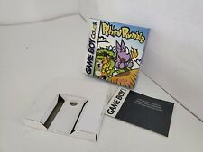 RHINO RUMBLE GAMEBOY COLOR  RARE BOX/TRAY& INSERT ONLY ( NO GAME or MANUAL) D25
