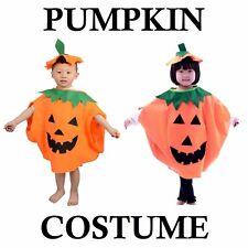 Pumpkin Costume Kids Child Hat Cap Orange Vegetable Halloween Fancy Dress Party