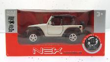 "Jeep Wrangler Rubicin ~ White ~ Nex Die Cast Metal ~ ""It's a Jeep Thing"""
