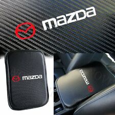 For MAZDA Embroidery Carbon Fiber Center Console Armrest Cushion Mat Pad Cover