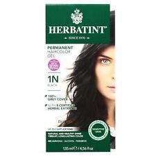 Herbatint permanente Ervas Gel Cor Do Cabelo, 1N Preto, 4.56 Onça