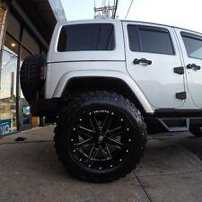(5) New Ballistic Rage 20x12 Wheels Offroad Black Jeep Wrangler Deep Lip