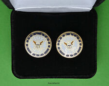 Navy Crest Cuff Links in Presentation Gift Box -Usn Us cufflinks