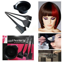 Hair Dye Kit Tint Brush Colour Salon Bleach Bowl Comb Coloring Tool Hairdressing