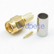 SMA male plug crimp for RF LMR200 LMR-200 CFD200 KSR200 Coaxial Pigtail Cable