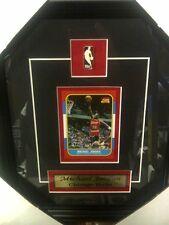Michael Jordan Chicago Bulls NBA Basketball Museum framed Rookie card Free Ship