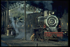 578072 Two year old M Group Steam Locomotives In Mirpur Khas Shed A4 Photo Print