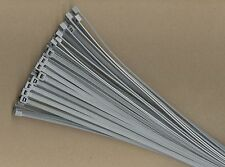"""100 14"""" Inch Long 50# Pound Gray Grey Nylon Cable Zip Ties Ty Wraps MADE IN USA"""