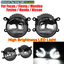 LED Fog Lamp DRL Light Projector Lens For Ford Focus Fusion Mondeo Nissan 05-13