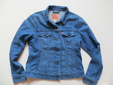 Levi's ® Damen Jacke Jeansjacke Gr. L, Indigo Biker Denim, 6 Taschen, Sehr Gut !
