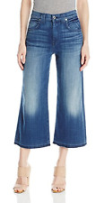 Free Shipping!  7 For All Mankind Women's Culottes Jean with Let Down Hem NWT