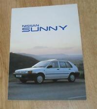 Nissan Sunny Brochure 1988 LS GS GSX ZX Coupe
