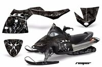 Snowmobile Graphics Kit Decal Sticker Wrap For Polaris Fusion 05-07 REAPER BLACK