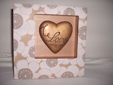 "Studio by Demdaco Love You X Forever Love Never Fails Heart Shadow Box 8""X8"""