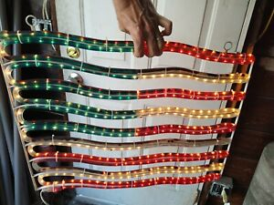 LED American Flag Patriotic Light Display Rope Light Outdoor 4th Of July