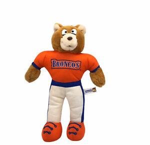 "Vintage Denver Broncos Team NFL Good Stuff Plush Bear 10"" Stuffed Ornament 1993"
