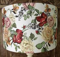 Vintage Floral Lamp Shade Lampshade shabby chic Cream FREE GIFT