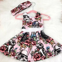 Newborn Toddler Baby Girl Star Wars Party Pageant Tutu Dress Sundress Clothes US