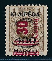 "MEMEL 1923, Mi. 232 III **, ""Type"" geprüft BPP!!, Mi. 250,--!!"