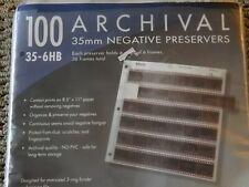 100 Print File Archival Preservers 35mm Negative Preservers 35-6HB,  some used