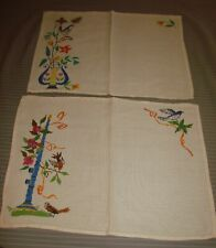 2 Vintage Petite Cross Stitch, Embroidered Place Mats, Doilies