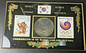 1988 Olympic Games Seoul COMMEMORATION '88 Olympic Stamps '86 Asian Games Coin